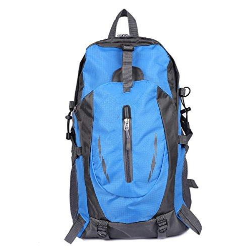 Xuanytp Nylon wasserdicht Reisegepäck Rucksack Rucksack Taschen für Outdoor Wandern Camping blue