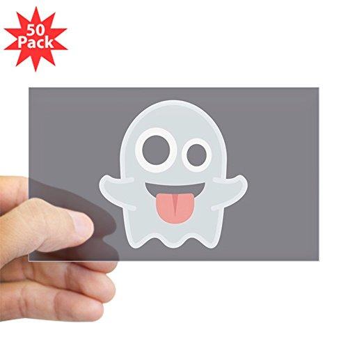 CafePress - Ghost Emoji - Sticker (Rectangle 50 pk) by CafePress