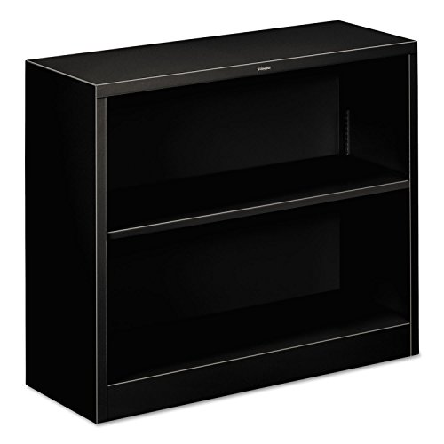 HON Metal Bookcase - Bookcase with Two Shelves, 34-1/2w x 12-5/8d x 29h, Black (HS30ABCP) by HON