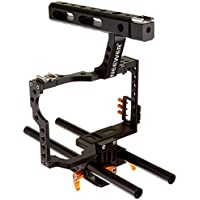 Neewer Film Movie Making Rig Camera Video Cage Kit With Handle Grip for Sony A7 A7S A7SII A7R A7RII A7II A6000 A6300 A6500 Panasonic GH4 GH3 Cameras to Mount Microphone Monitor LED Flash, Follow Focus