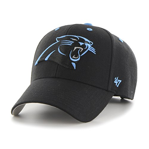 NFL Carolina Panthers '47 MVP Adjustable Hat, One Size, Black