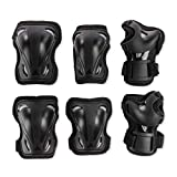 Rollerblade Skate Gear 3 Pack Protective Gear, Knee Pads, Elbow Pads and Wrist Guards, Inline Skating, Multi Sport Protection, Unisex, Black