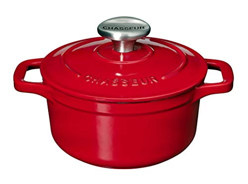 Chasseur 8-5/8-Inch Red Enamel Cast-Iron Round Dutch Oven