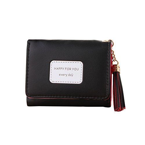 Fringe Pendant TriFold Wallet Wallet CardShuohu Women Tassel Three Folds Card Storage Purse Key Coins Holder Wallet