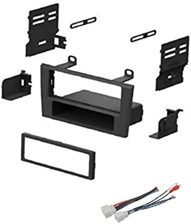 Car Stereo Dash Install Mount Kit and Wire Harness for Installing an Aftermarket Single Din Radio for 2002-2003 Ford Thunderbird and 2000-2002 Lincoln LS
