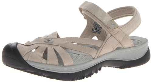 (KEEN Women's Rose Sandal,  Aluminum/Neutral Gray, 7.5 B - Medium)