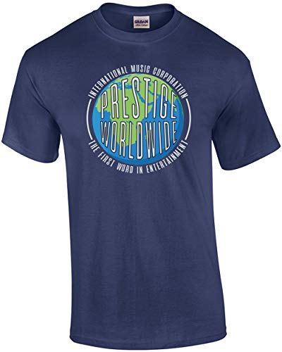 (Prestige Worldwide - International Music Corporation - The First Word in Entertainment - Step Brothers T-Shirt Blue )