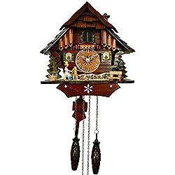 Anton Schneider Quartz Cuckoo Clock Little black forest house, with music