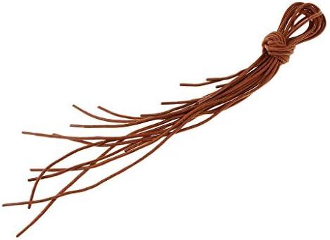 靴ひも 靴紐 蝋引き ワックスロープ ラウンド 交換用 古典的 ブーツ 革靴 全3色2サイズ