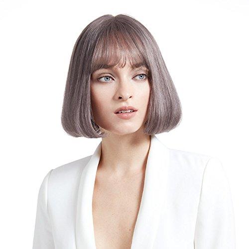 Perruque Perruque européenne et américaine cheveux courts fumée gris naturel Fluffy mode Male haute qualité Perruques