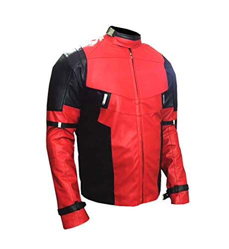 Mens Stylish Cosplay Halloween Faux Leather Biker Jacket 2XS to 3XL -