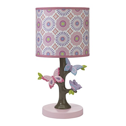 Lambs & Ivy Happi by Dena Butterfly Garden Lamp Shade & Bulb, Pink by Lambs & Ivy