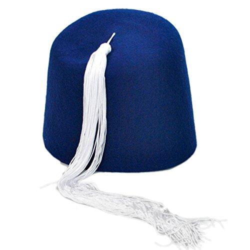 9ee9e100f55 Village Hat Shop Fez w White Tassel