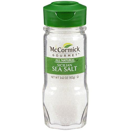 - McCormick Gourmet All Natural Sicilian Sea Salt, 3.62 oz