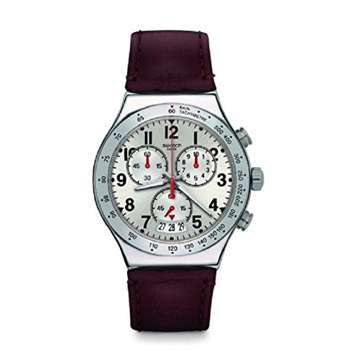 SWATCH Water Resistant Leather Strap Mens watch