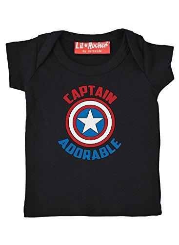 Nostalgische kleding Kapitein Schattig Grappig Comic Slogan Baby T Shirt cadeau