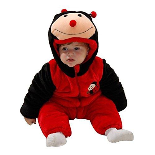 Staringirl Baby Unisex Spring Sleepsuit Child Fancy Dress Onesie Party Costumes Ladybug 100