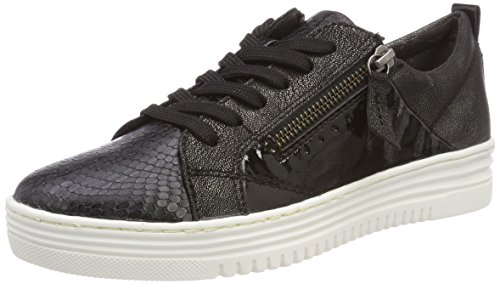 Women's Black Top 23701 Comb Jana Low Black Sneakers zWPAnxgFwa