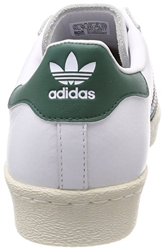 Scarpe Adidas Originali Superstar Anni 80 9.5 B (m) Us Women / 8.5 D (m) Us White / Collegiale Green / Mystery Ruby