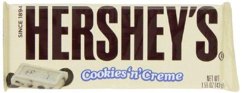 Hersheys Cookies Creme 1 55 Ounce Pack