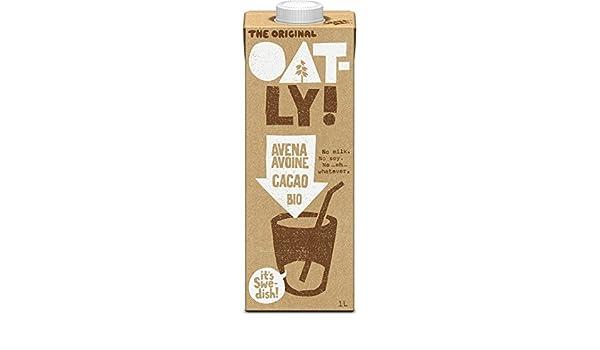 Oatly - Bebida de avena con chocolate ecológica - 1 l - [pack de 3]: Amazon.es: Alimentación y bebidas