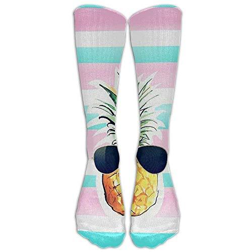 Long Dress Socks Cotton Pineapple Sunglasses Football Comfortable Breathable Over-the-Calf Tube 19.7in ()