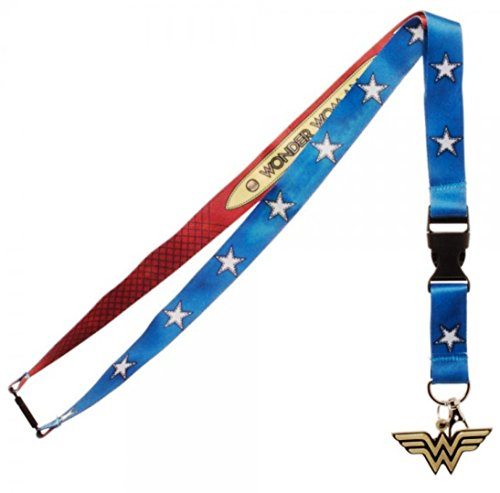Wonder Woman Suit-Up Reversible Break-Away Lanyard Keychain]()