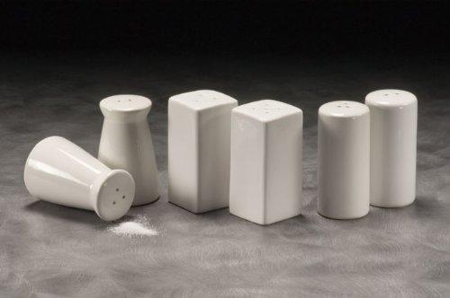 American Metalcraft (CSPS3) Square Ceramic Salt & Pepper Shakers (Set of 2)