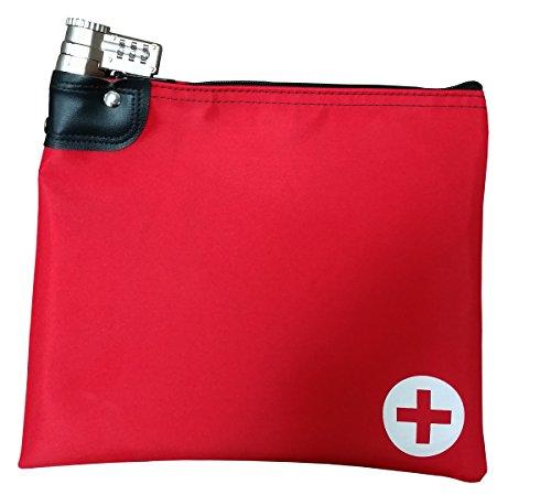 Prescription Medications (Medication Safety Bag Combination Keyed Lock (Red))