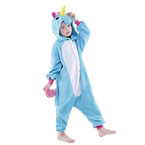 ANRevelinCN Unisex Children's Halloween Costume Sleepwear (Blue Unicorn, (China Girl Halloween Costume)