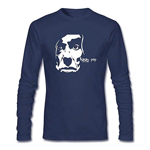Danielrauda men 39 s iggy pop long sleeve t shirt royal blue for Iggy pop t shirt amazon