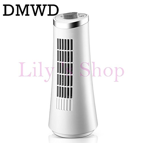 DMWD Tower fan mini air cooling fan office desktop bladeless electric table mini air conditioner fans left right head shaking EU (knob type) by DMWD