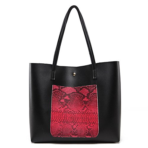 Woman Bag Capacity Black Anne Casual D Large adqx5fwv