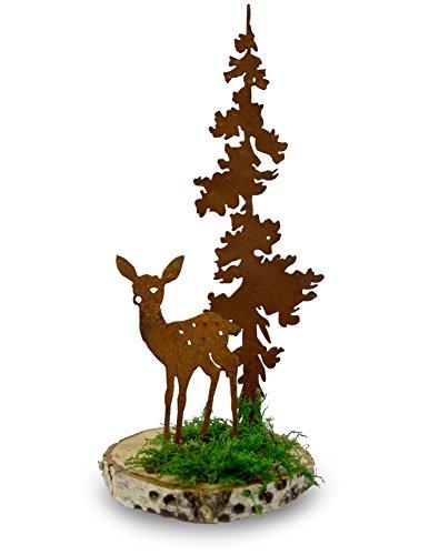 Modern Artisans Rustic Metal Woodland Scene Sculpture Kit: Deer Fawn with Tree