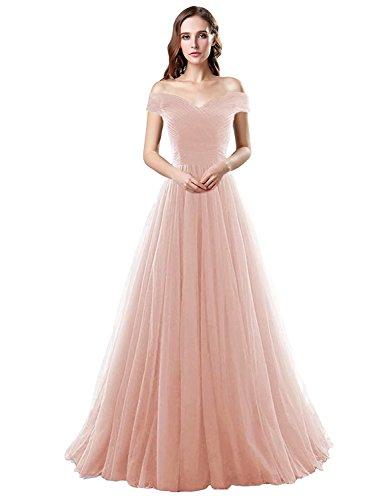 Belle Maison Longue Tulle Femmes Dentelle Robe De Bal Sans Bretelles Les Robes De Soirée Xrk180311-blush