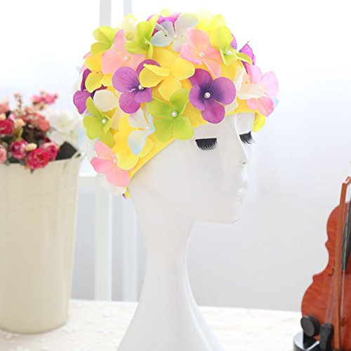 Smartcoco 6 Colors Petal Stylish Swim Cap Hat Bathing Swimming Shower Caps for Women