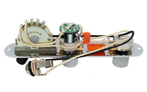 920D Custom Shop Fender Telecaster 4 Way Baja Control Plate w/S1 Switch, Chrome by Custom Shop (Image #1)