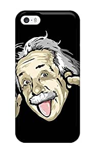 Snap-on Funny Albert Einstein Case Cover Skin Compatible With Iphone 5/5s