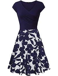 Casual Dress,Womens Elegant Dress A Line Cap Sleeve V Neck