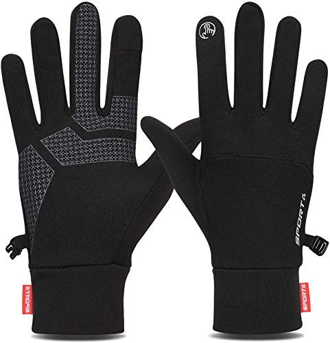 Yobenki Winter Gloves for Men Women Cycling Gloves Anti Slip Touch Screen Gloves Cold Weather Gloves Windproof…