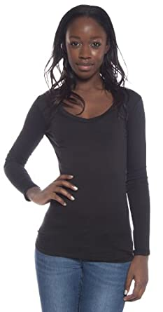 active basic womenu0027s basic long sleeve vneck tee