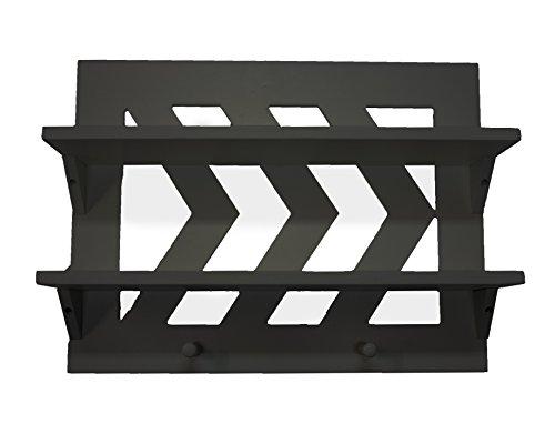 Chevron Shelf (Espresso) (Wall Small Shelf Black)