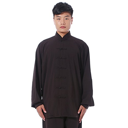 Itopfox-Unisex-Cotton-Tai-Chi-Uniform-Kung-Fu-Morning-Exercise-Clothing