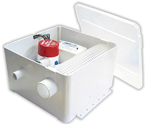 Discharge Port - Rule 97A Marine Shower Drain Kit (500 -GPH, 12-Volt, Single Port Inlet, Mercury Free)