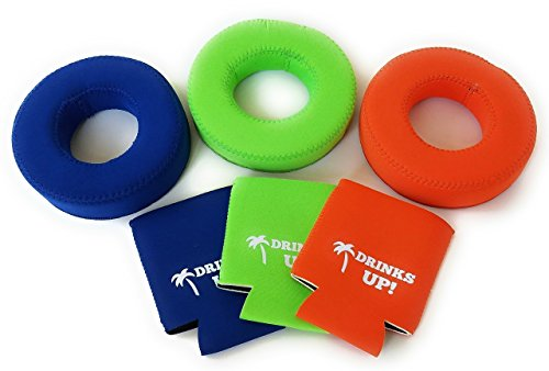 Drinks Up!! Neoprene Floating Drink Holder (3-Pack or 6-Pack) -