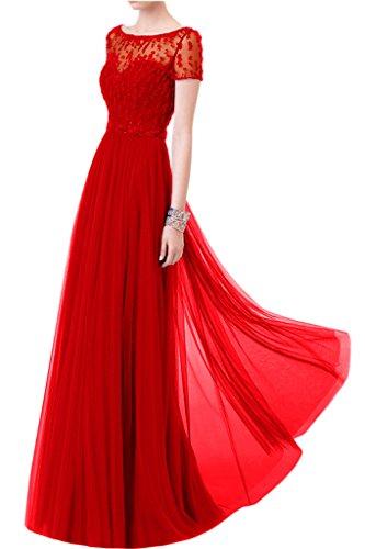 Victory Bridal - Robe - Trapèze - Femme -  Rouge - 50