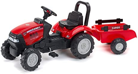 Falk 961B - Tractor a Pedales con Remolque, Color Rojo: Amazon.es ...