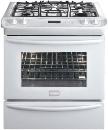 """Frigidaire FGGS3065KWGallery 30"""" White Gas Slide-In Seale..."""