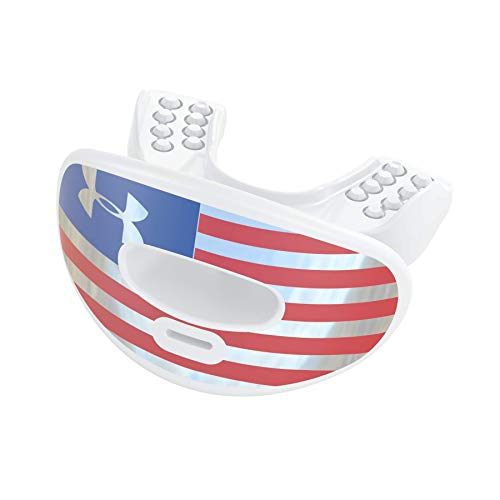 Armour Air Lip Guard Chrome Slv/Red US Flag, OSFA ()