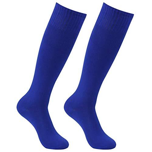 (Soccer Socks for Men, HAPYCEO Boys Baseball Rugby Football Soccer Athletic Team Sports Long Tube Socks 2 Pairs Blue)